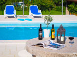 The pool area of the luxury villa in Konavle in Dubrovnik Region