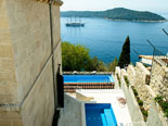 View on the Jacuzzi and the pool in the design luxury Dubrovnik villa