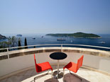 View on Lokrum from this bedroom in this five star villa in Dubrovnik