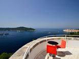 View on Dubrovnik city walls from this bedroom in this five star villa in Dubrovnik