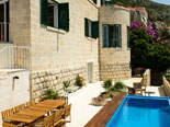 Pool area of this five stars villa in Dubrovnik