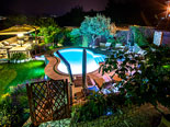 Night view on the pool of this villa on Ciovo near Trogir