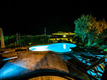 Pool area by night in this villa on Ciovo island near Trogir
