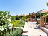 Garden and pool area in Ciovo luxury villa