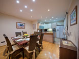 Dining and kitchen in the first floor apartment in luxury villa near Trogir