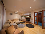 Living room in the first floor apartment in Ciovo luxury villa