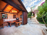 The tavern in the pool area in this luxury villa on Ciovo Island near Trogir