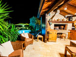 The tavern in the pool area in this luxury villa on Ciovo Island near Trogir