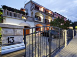 Parking in front of the luxury villa on Ciovo Island near Trogir