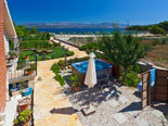 Villa has stunning views on the Adriatic Sea and mountains on mainland