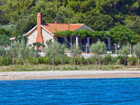 View on the villa in Supetar on Brač island  from the sea