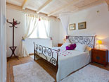 Double bedroom in holiday villa on Brač Island