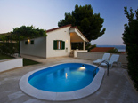 View from the pool on the holiday villa for rent in Dugi Rat on Split Riviera in Croatia