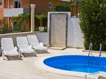 Pool detail in the holiday villa with pool for rent in Dugi Rat on Split Riviera in Croatia