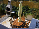 Outside dining and BBQ in the holiday villa with pool for rent in Dugi Rat on Split Riviera in Croatia