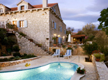Dalmatian traditional style holiday villa with pool in Milna on Brac island in Croatia
