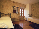 Bedroom in Dalmatian holiday villa in Milna on Brac island in Croatia