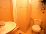 Bathroom with shower unit in Dalmatian stone house for rent on Brač island