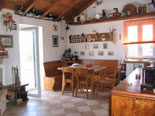 Traditionally decorated dining area in the house for rent on Brač Island