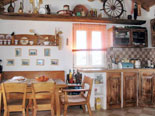 Authentic furnishing in the dining room and kitchen represents the real spirit and living ambience during past times in Dalmatia