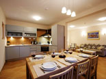 Kitchen and dining room in villa with pool for rent in Hvar town in Dalmatia - Croatia