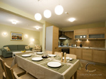 Dining area, kitchen and the living room in holiday rental villa with pool in Hvar - Dalmatia - Croatia
