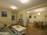 Living room and kitchen in holiday rental villa with pool in Hvar - Dalmatia - Croatia