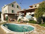 Pool of the old dalmatian stone villa in Sumartin on Island of Brač Croatia