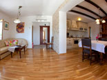 Living and dining room in Dalmatian holiday villa with pool for rent in Sumartin on Brač Island