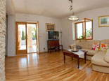 Living room in Dalmatian holiday villa with pool for rent in Sumartin on Brač Island