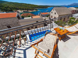 View from the terrace of the four star holiday villa for rent in Povlja on Brač Island in Dalmatia