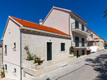Outside of the quality holiday rental villa in Povlja on Brač Island in Dalmatia