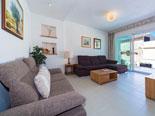 Living room in the quality holiday rental villa in Povlja on Brač Island in Dalmatia
