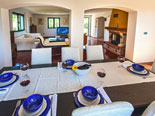 Dining room in holiday villa for rent in Sumartin on Brač Island in Dalmatia in Croatia