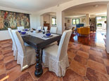 Dining and living room in rental villa with pool in Sumartin on Brač Island in Dalmatia in Croatia