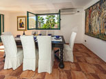 Dining room in rental villa with pool in Sumartin on Brač Island in Dalmatia in Croatia