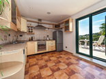 Kitchen in rental villa with pool in Sumartin on Brač Island in Dalmatia in Croatia