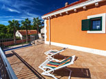 Terrace in Dalmatian holiday villa for rent in Sumartin on Brač Island in Croatia