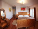 Bedroom in Dalmatian rental holiday villa in Sumartin on Brac island in Split region