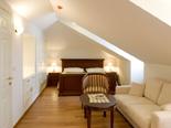 Bedroom in Dalmatian rental holiday villa in Sumartin on Brac island in Split region