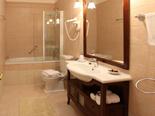 Bathroom in Dalmatian rental holiday villa in Sumartin on Brac island in Split region