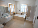 Upstairs bathroom in house for rent on Hvar island