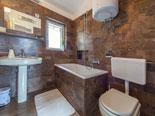 Bathroom in villa in Baska voda on Makarska riviera