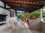 Outdoor terrace in villa in Baska voda in Croatia