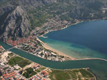 Aerial view on Omiš