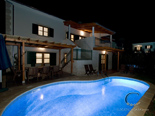 Holiday villa with pool in Hvar Dalmatia Croatia by night