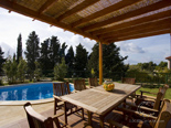 Outdoor dining area in the holiday villa with pool in Hvar Dalmatia Croatia