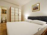 Bedroom in the holiday villa with pool in Hvar Dalmatia Croatia