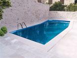 Pool area in vacation villa for rent in Sutivan on Brač island