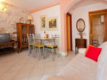 Living and dining room in Brač villa for rent